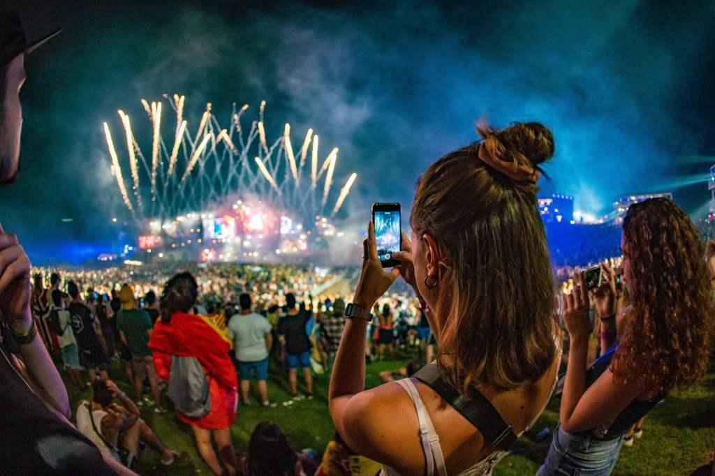 Tomorrowland in Boom, België. één van de grootste outdoor dance evenementen van de wereld.