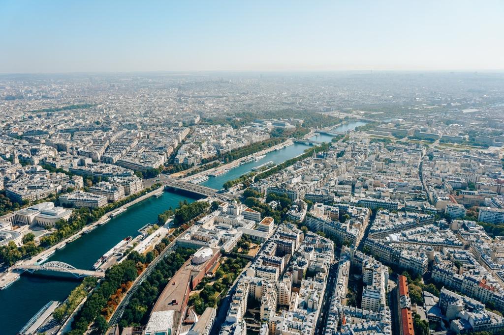 Uitzicht vanaf de Eiffeltoren, Parijs